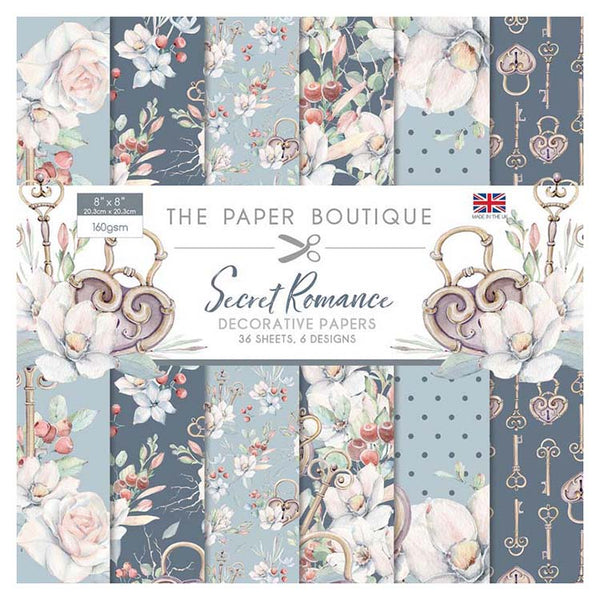 The Paper Boutique Secret Romance 8x8 Paper Pad