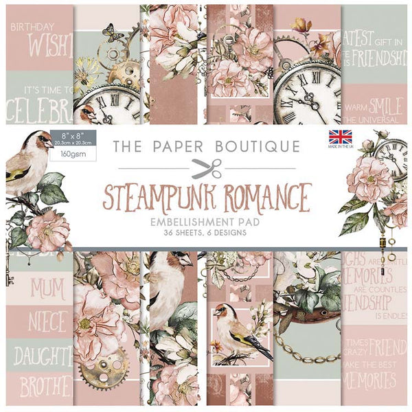 The Paper Boutique Steampunk Romance 8x8 Embellishments Pad