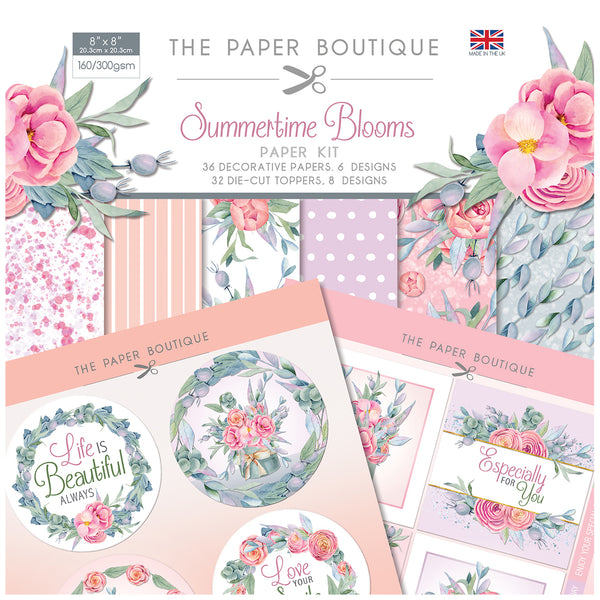 The Paper Boutique Summertime Blooms Paper Kit