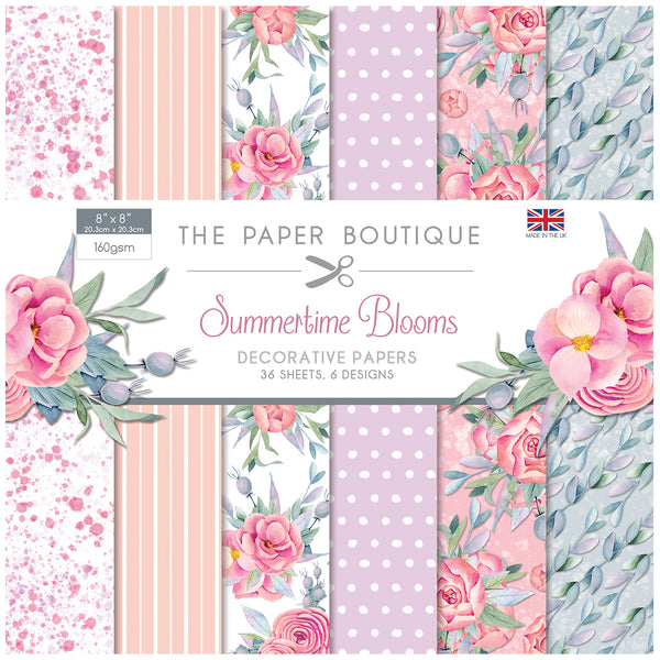 The Paper Boutique Summertime Blooms 8x8 Paper Pad