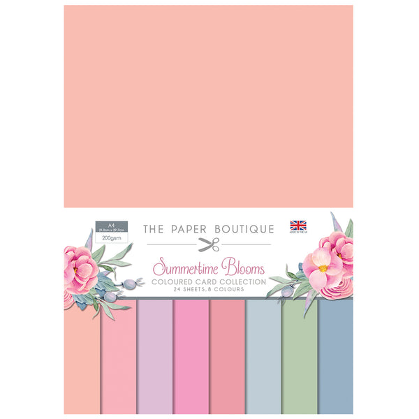The Paper Boutique Summertime Blooms Colour Card Collection
