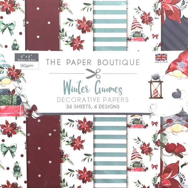 The Paper Boutique Winter Gnomes 6x6 Paper Pad