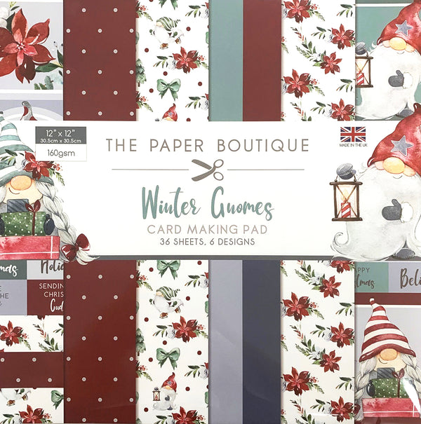 The Paper Boutique Winter Gnomes 12x12 Card Making Pad
