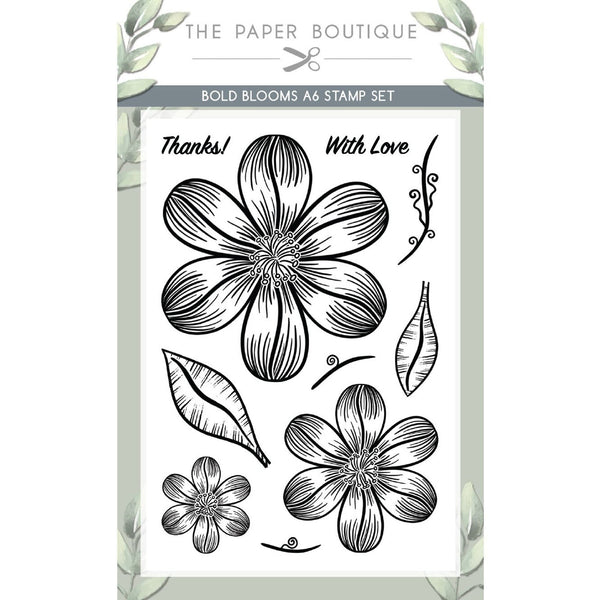 Bold Blooms A6 Stamp Set