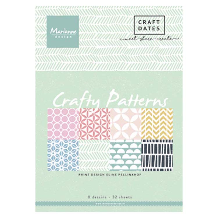 Marianne Design A5 Pretty Paper Bloc Crafty Patterns