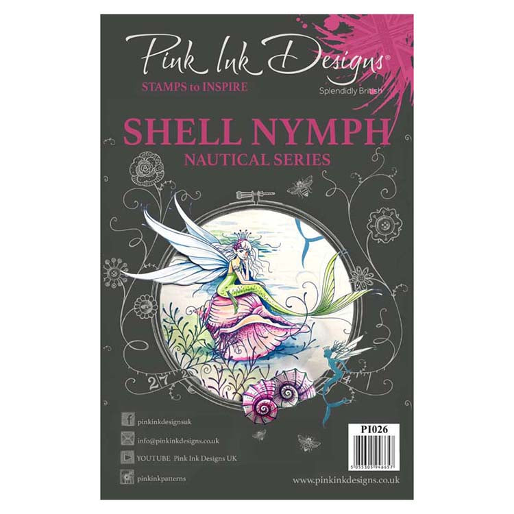 Pink Ink Designs A5 Clear Stamp Shell Nymph