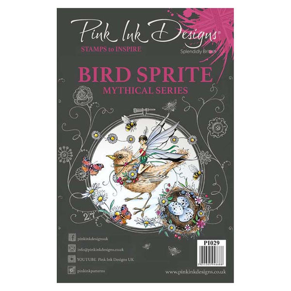 Pink Ink Designs A5 Clear Stamp Bird Sprite