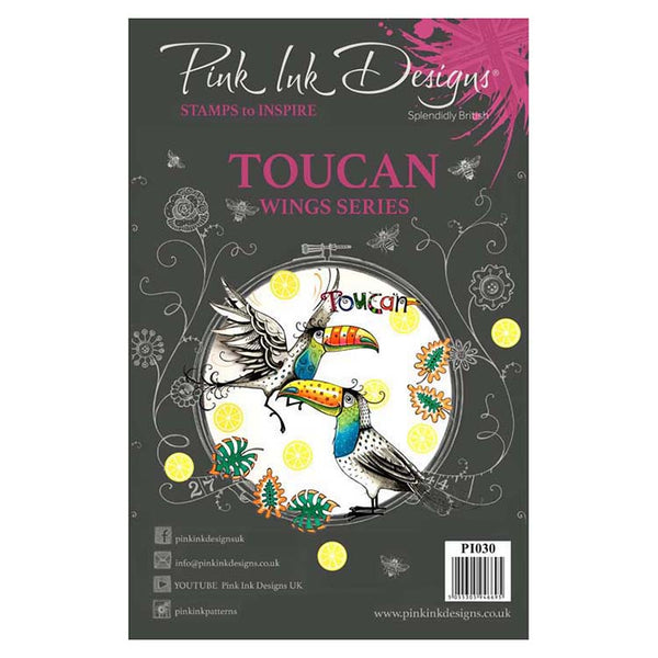 Pink Ink Designs A5 Clear Stamp Toucan