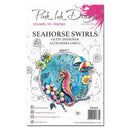 Pink Ink Designs Clear Stamp Seahorse Swirls