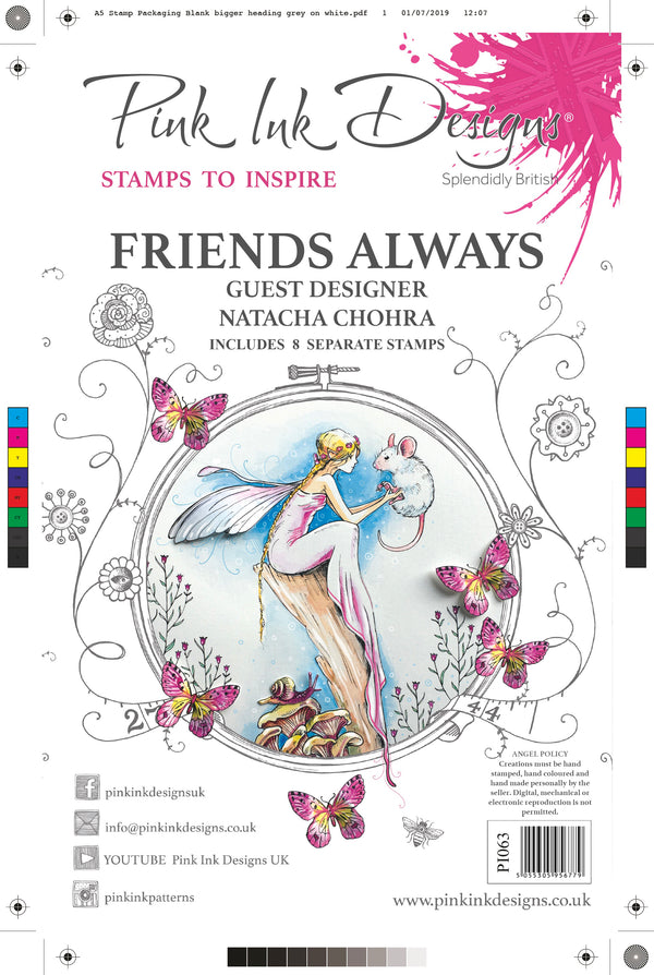 Friends Always A5 Clear Stamp Set