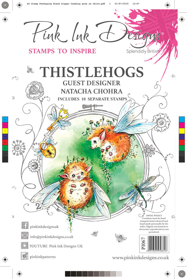Thistlehogs A5 Clear Stamp Set