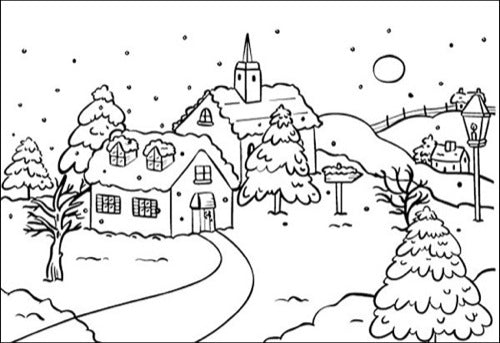 Embossing Folders - Snowy Village 1
