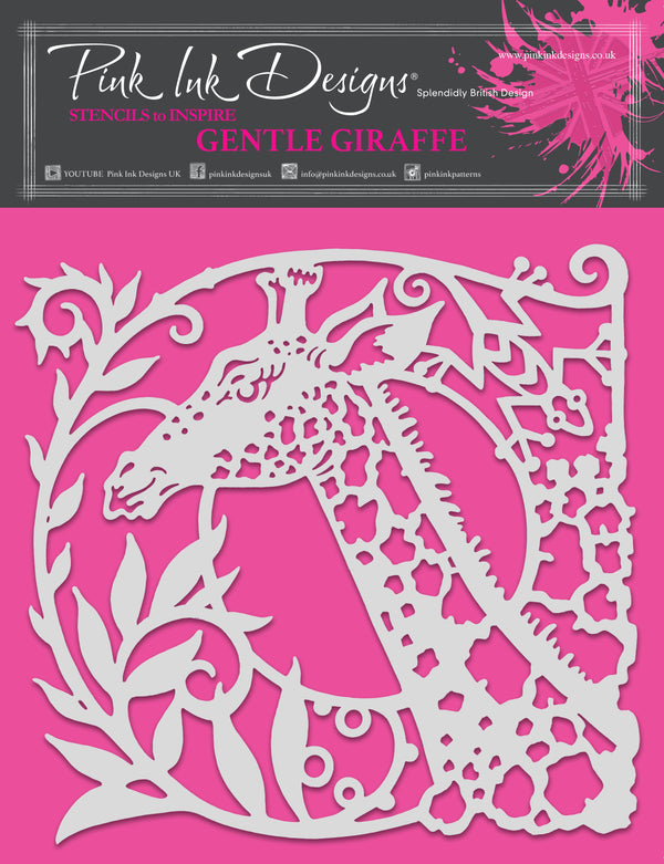 Pink Ink Designs Gentle Giraffe 8 in x 8 in Stencil