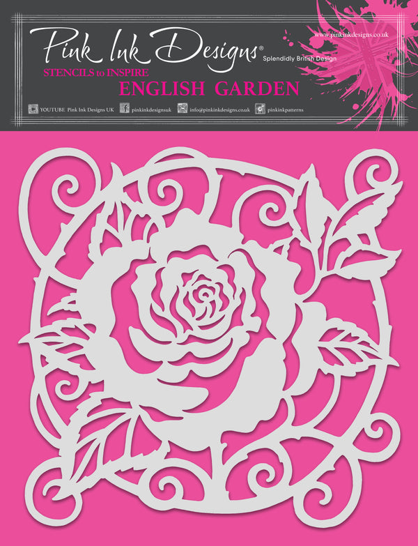 Pink Ink Designs English Garden 8 in x 8 in Stencil