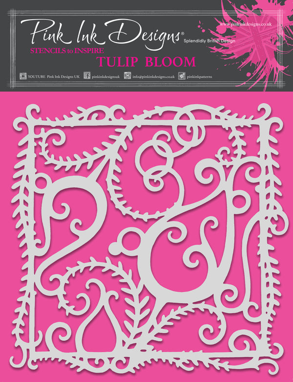 Pink Ink Designs Tulip Bloom 8 in x 8 in Stencil