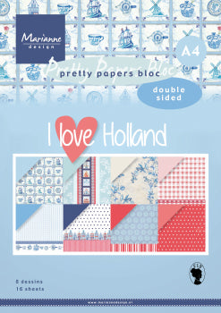 A4 Pretty Paper Bloc I Love Holland A4