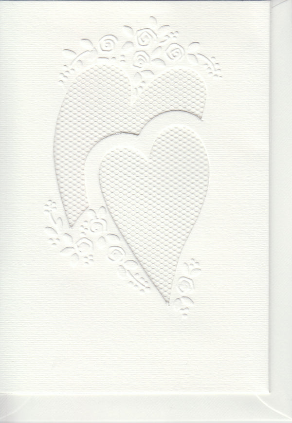 Pontura Card Set -3 cards/envelopes - Two Hearts 2