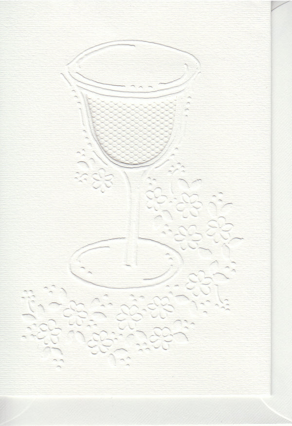 Pontura Card Set -3 cards/envelopes - Wine Glass