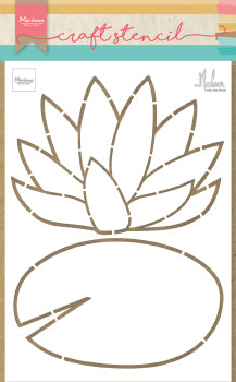 Craft Stencil Waterlily by Marleen