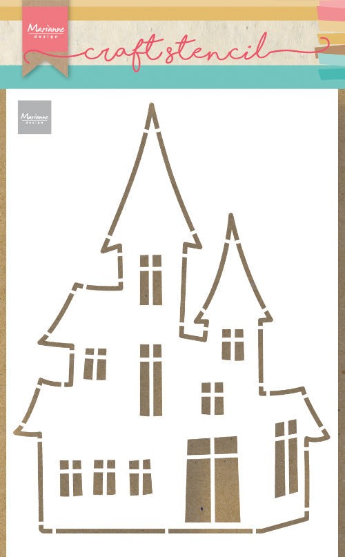 Craft Stencil Haunted House
