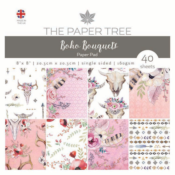 "The Paper Tree Boho Bouquets 8"" x 8"" Paper Pad"