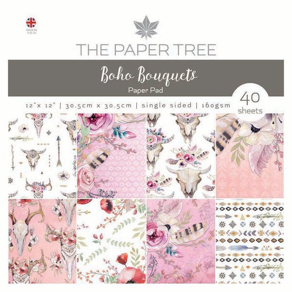 "The Paper Tree Boho Bouquets 12"" x 12"" Paper Pad"