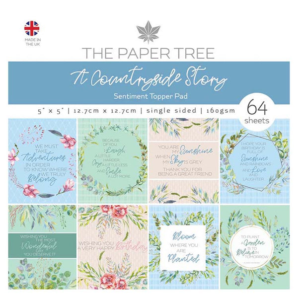 The Paper Tree A Countryside Story 5x5 Sentiments Pad