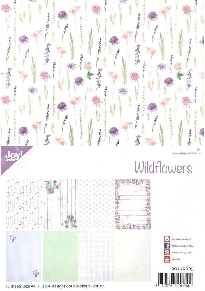 Joy! Crafts A4 Papers - Wildflowers