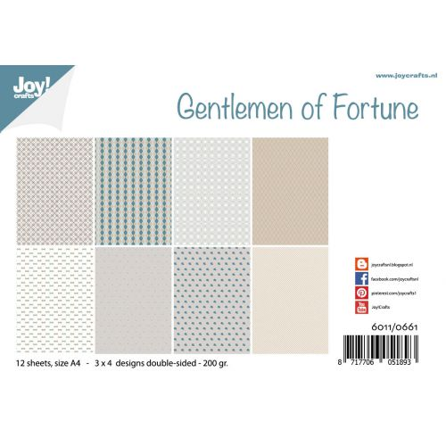 Joy! Crafts A4 Papers - Gentleman of Fortune