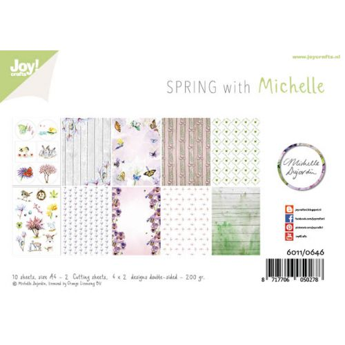 A4 Paper Set + Cutting Sheets - Spring With Michelle
