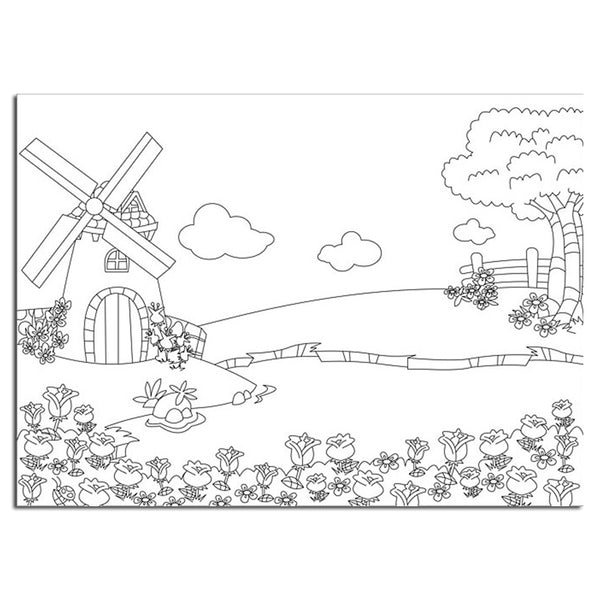 Picture Embossing Folder - Windmill