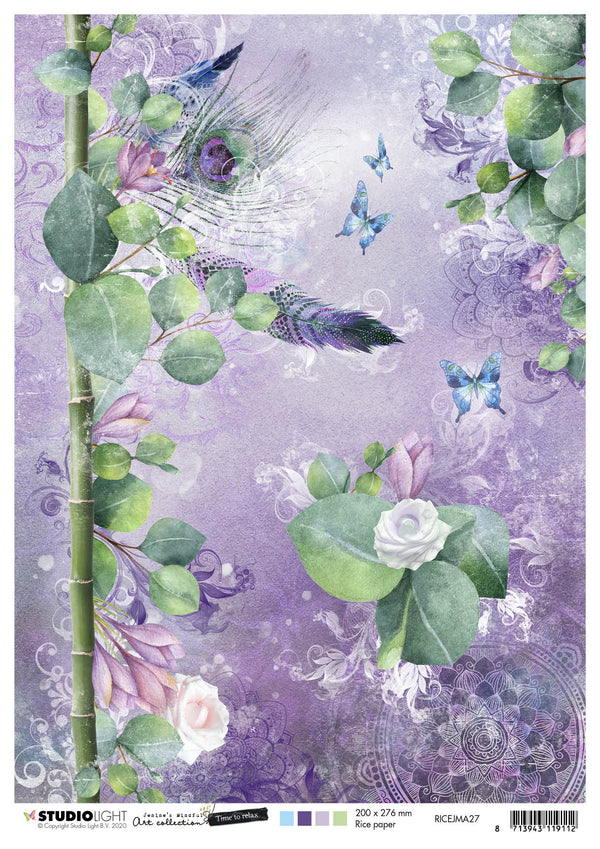 Jenine's Mindful Art Rice Paper Time to Relax 210x297mm nr.27