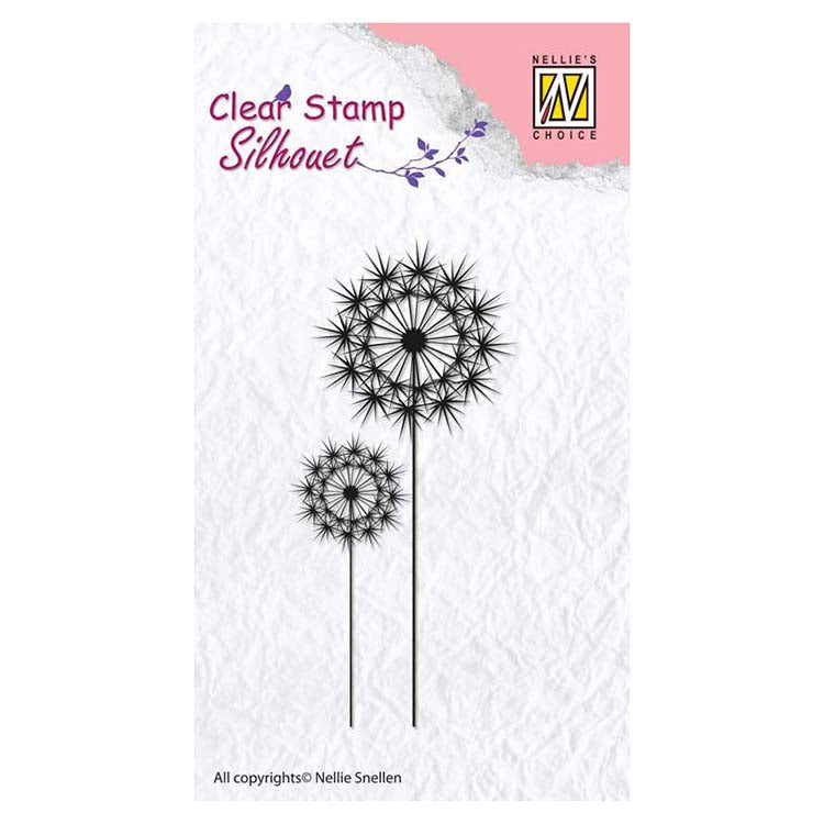Nellie's Choice - Clear Stamp Flowers 8