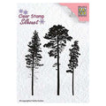Nellie's Choice - Clear Stamp Christmas Pine Trees