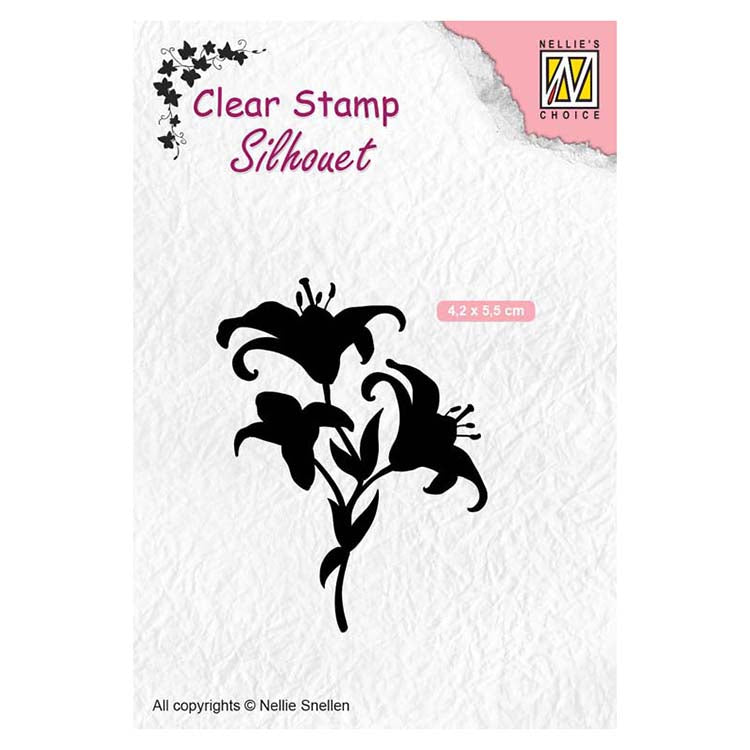 Nellie's Choice Clear Stamps Silhouette Lilies