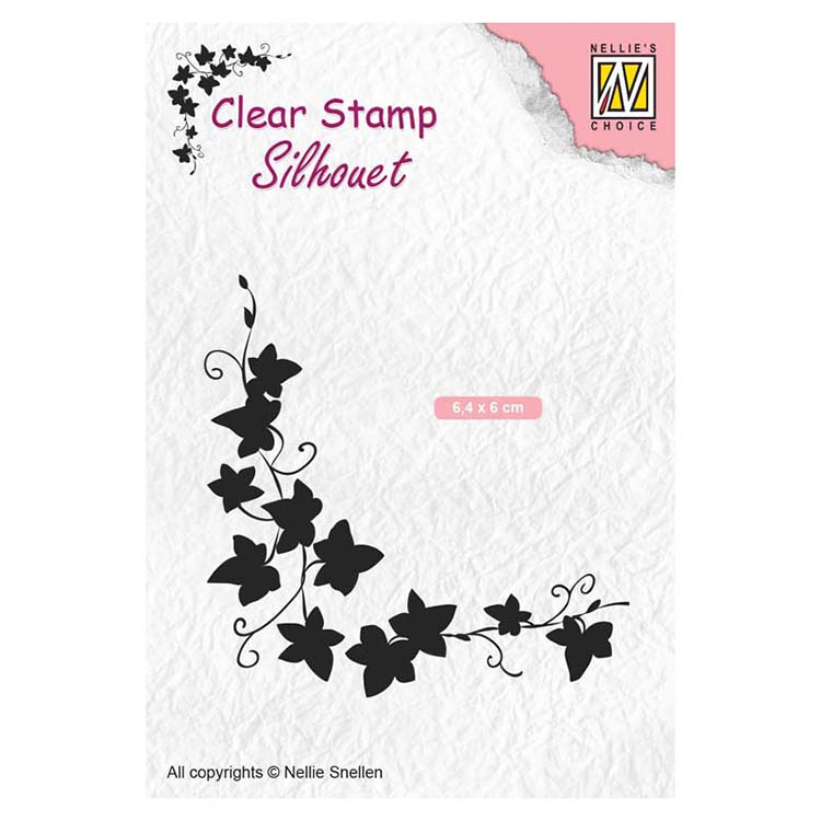 Nellie's Choice Clear Stamps Silhouette Ivy