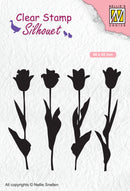 Clear Stamp Silhouette Tulips
