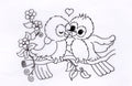Nellie's Choice Clear Stamp - Spring Love