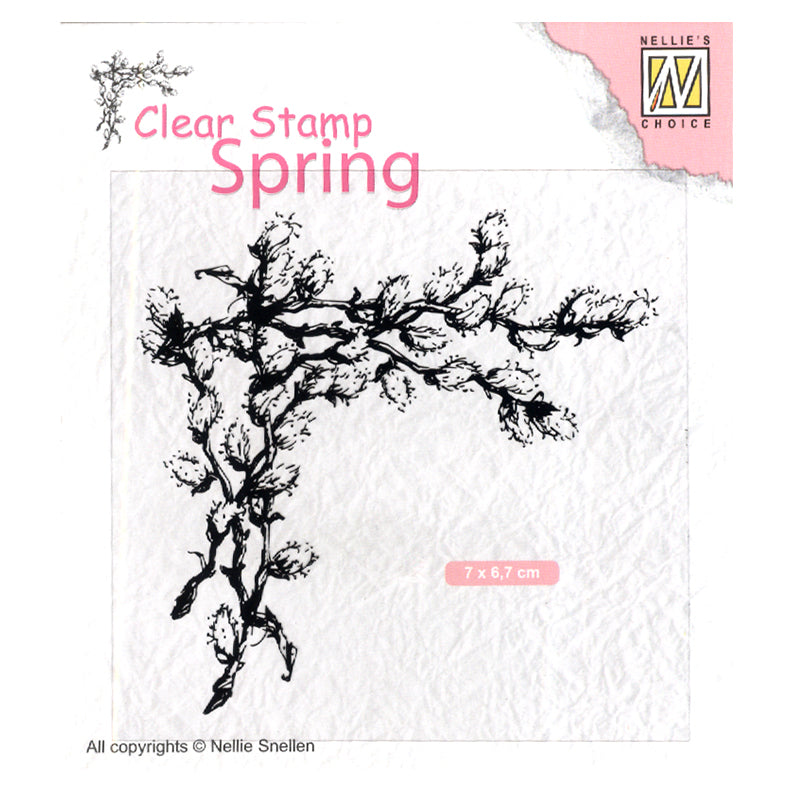 Nellie's Choice Clear Stamp Spring Corner with Willow Catkins