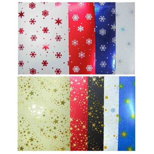 Mirror Printed Cardstock Christmas 10 sheets