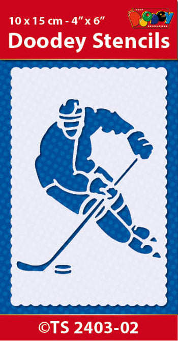 Stencil 10x15 cm Hockey on Ice
