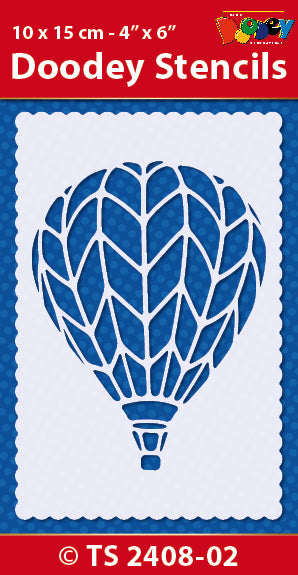 Stencil 10x15 cm Air Balloon