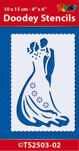 Stencil 10x15 cm Wedding Couple (2)