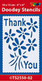 Stencil Sentiment: Thank You