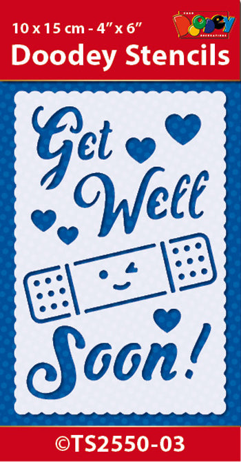 Stencil Sentiment: Get Well Soon