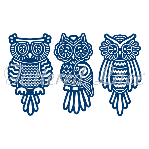 Tattered Lace Die -  Baby Owls