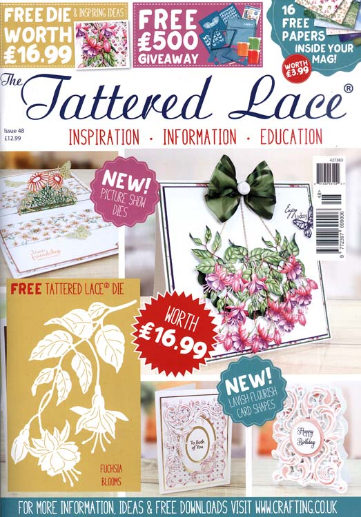 The Tattered Lace Magazine Issue #48 with FREE Die