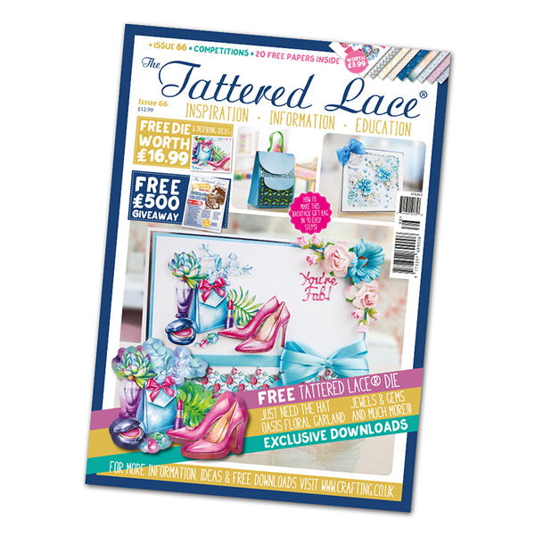 The Tattered Lace Magazine Issue #66 with FREE Die
