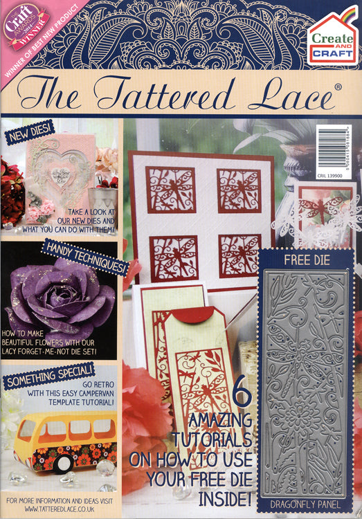 The Tattered Lace Magazine Create & Craft Issue with FREE Dragonfly Panel Die