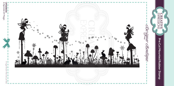 Designer Boutique Collection A Sprinkle Of Magic DL Pre Cut Rubber Stamp